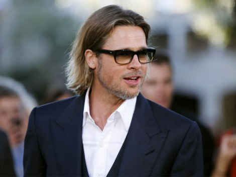 Brad pitt  in dark suit