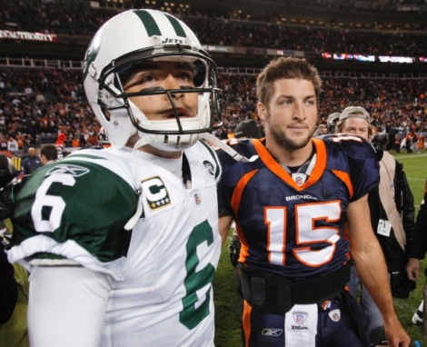 Tim Tebow against the Jets
